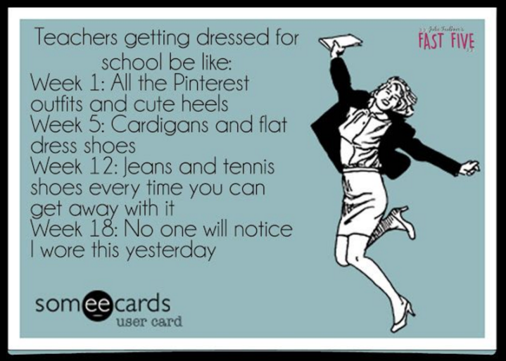teachers dressing